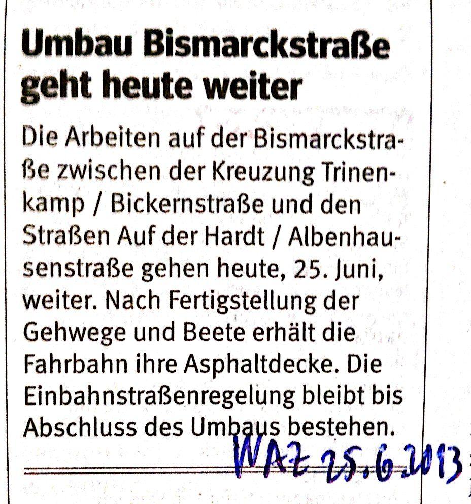 Bismarckstraße WAZ_1